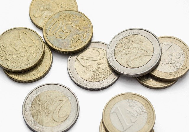 شكل عملات اليورو المعدن