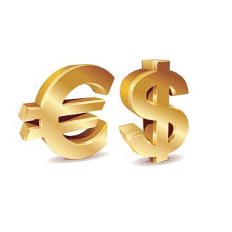 اليورو والدولار الأمريكي