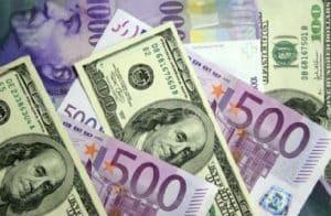 شكل زوج العمله اليورو والدولار الأمريكي