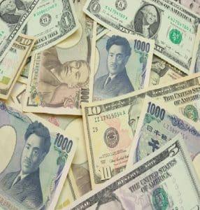 شكل عمله الدولار الأمريكي والين الياباني