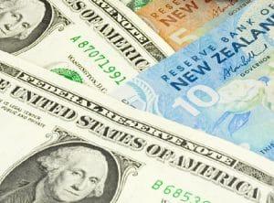 شكل عملة الدولار النيوزيلندي والدولار الأمريكي